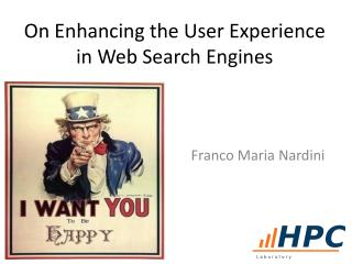 On  Enhancing  the User Experience in Web  Search Engines