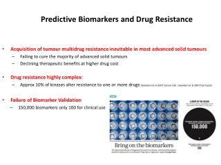 Predictive Biomarkers and Drug Resistance