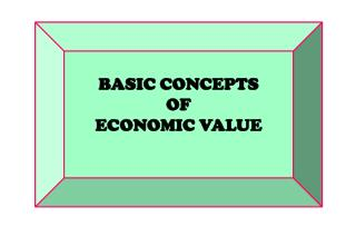 BASIC CONCEPTS  OF  ECONOMIC VALUE
