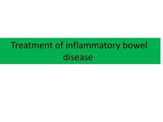 Treatment of inflammatory bowel disease