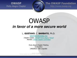 OWASP in favor of a more secure world