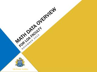 Math Data Overview for LOA Faculty
