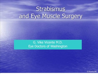 Strabismus and Eye Muscle Surgery
