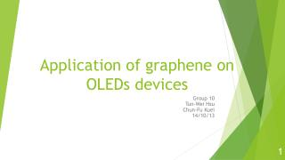 Application of  g raphene  on OLEDs devices