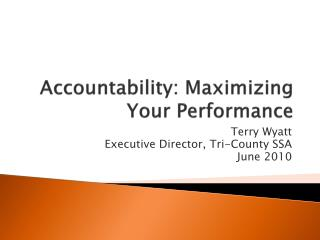 Accountability: Maximizing Your Performance