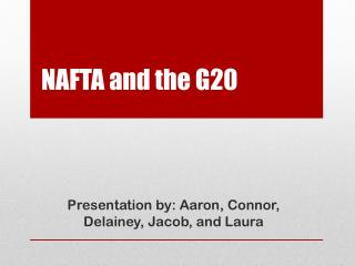 NAFTA and the G20