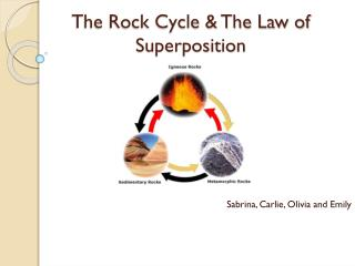The Rock Cycle & The Law of Superposition