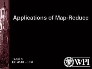 Applications of Map-Reduce