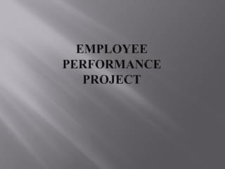 Employee Performance Project