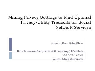 Mining Privacy Settings to Find Optimal Privacy-Utility Tradeoffs for Social Network Services