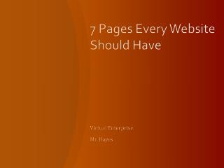 7 Pages Every Website Should Have