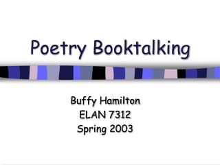Poetry Booktalking