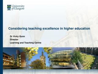 Considering teaching excellence in higher education