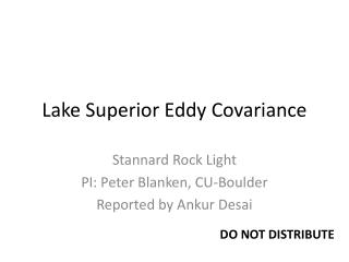 Lake Superior Eddy Covariance