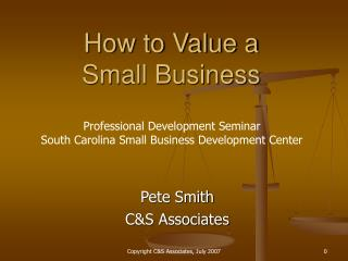 How to Value a Small Business