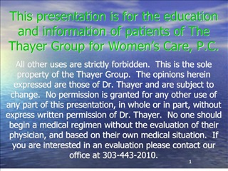 This presentation is for the education and information of ...