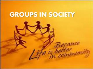 Groups in Society