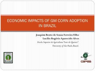 ECONOMIC IMPACTS OF GM CORN ADOPTION IN BRAZIL