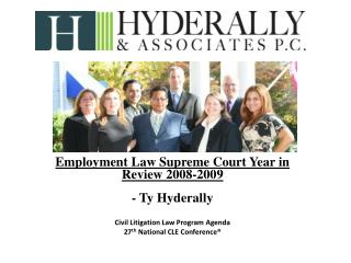 Employment Law Supreme Court Year in Review  2008-2009 - Ty Hyderally