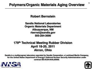 Polymers/Organic Materials Aging Overview