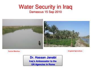 Water Security in Iraq Damascus 15 Sep 2010