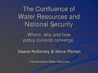 Daene McKinney & Steve Pitman Transboundary Water Resources