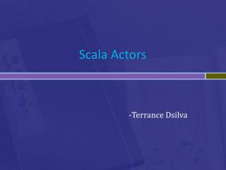 Scala  Actors