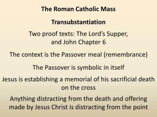 Transubstantiation