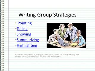 Writing Group Strategies