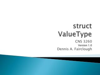 struct ValueType