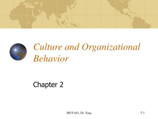 Culture and Organizational Behavior