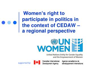 Women's right to participate in politics in the context of CEDAW –  a regional perspective