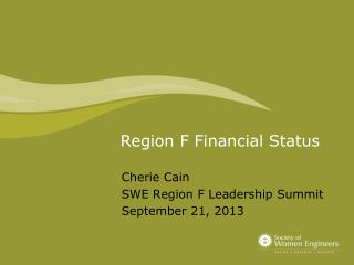 Region F Financial Status
