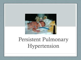 Persistent Pulmonary Hypertension