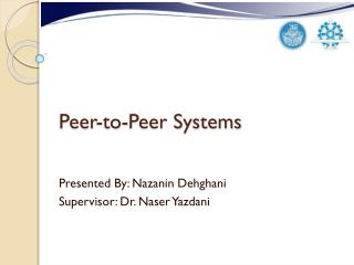 Peer-to-Peer Systems