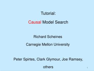 Tutorial: Causal  Model Search