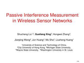 Passive Interference Measurement in Wireless Sensor Networks