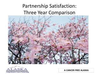 Partnership Satisfaction:   Three Year Comparison