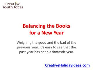 Balancing the Books for a New Year