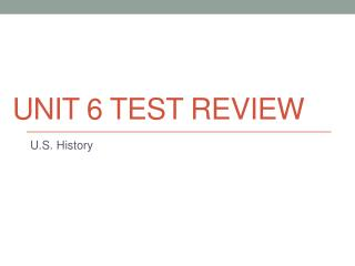 Unit 6 Test Review