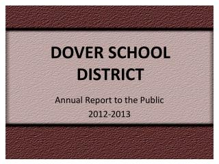 DOVER SCHOOL DISTRICT