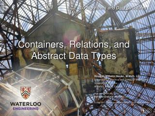 Containers, Relations, and Abstract Data Types