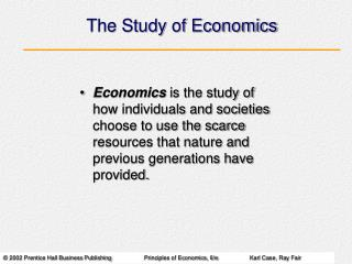 The Study of Economics