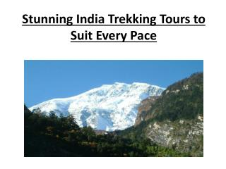 Stunning India Trekking Tours to Suit Every Pace