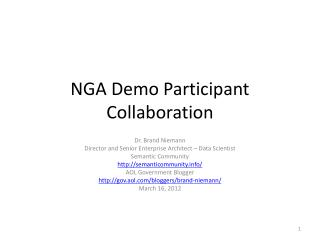 NGA Demo Participant Collaboration