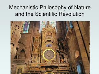 Mechanistic Philosophy of Nature and the Scientific Revolution