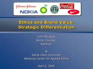 Ethics and Brand Value: Strategic Differentiation