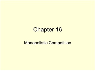 Chapter 17 Monopolistic Competition