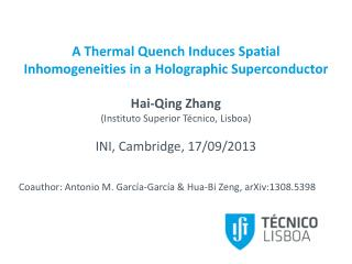 A Thermal Quench Induces Spatial  Inhomogeneities  in a Holographic Superconductor