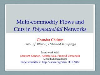 Multi-commodity Flows and Cuts in  Polymatroidal  Networks